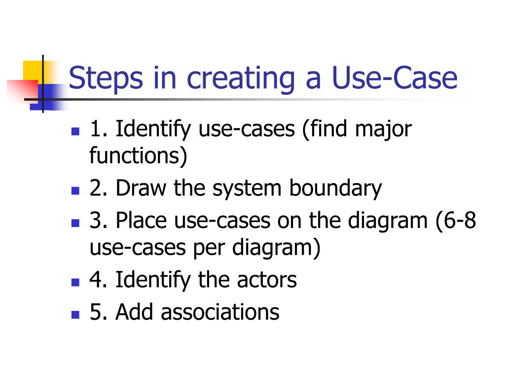 Steps in creating a Use-Case