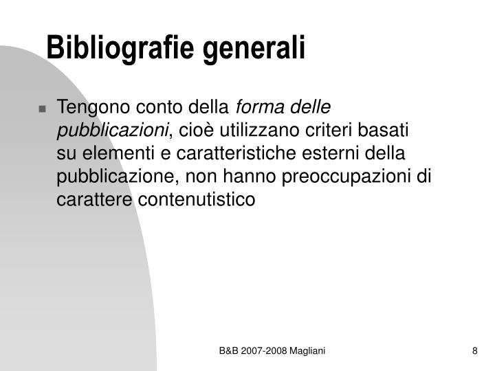 Bibliografie generali