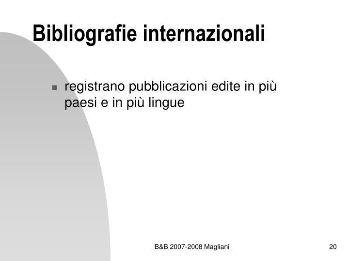 Bibliografie internazionali
