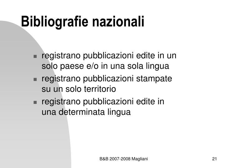 Bibliografie nazionali