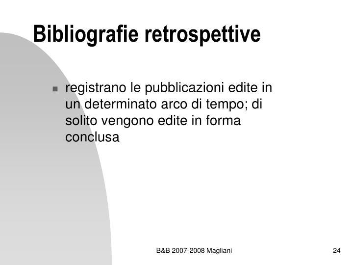Bibliografie retrospettive