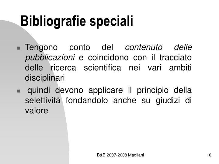 Bibliografie speciali