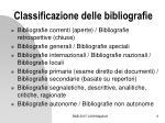classificazione delle bibliografie1