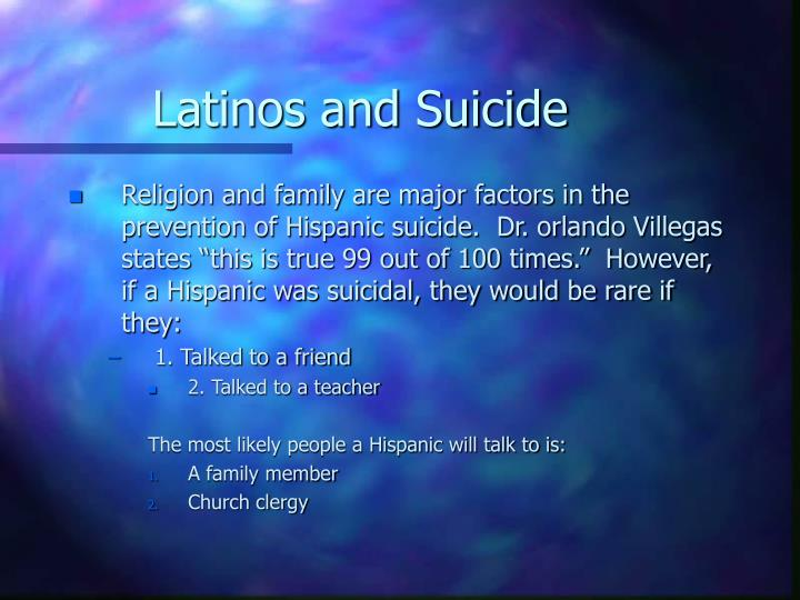 Latinos and Suicide