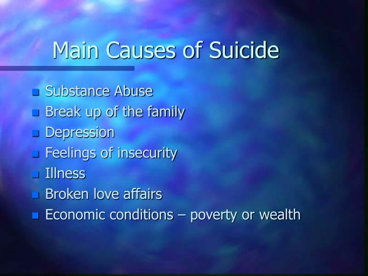 Main Causes of Suicide
