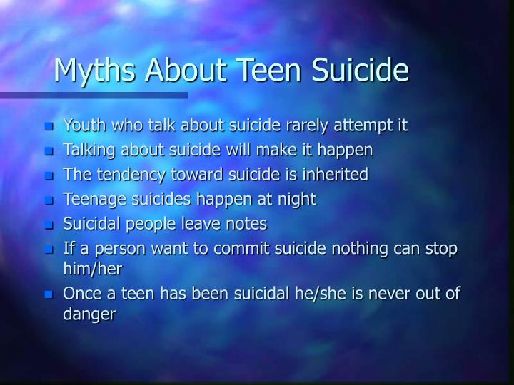 Myths About Teen Suicide