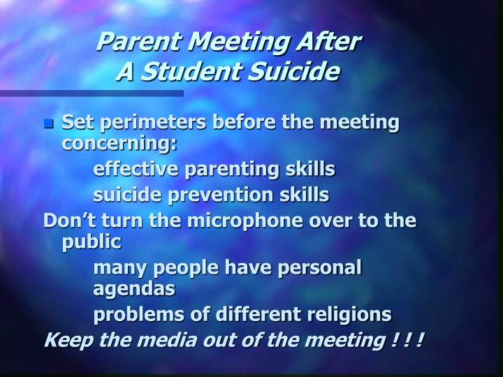 Parent Meeting After