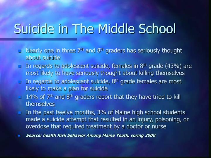 Suicide in The Middle School