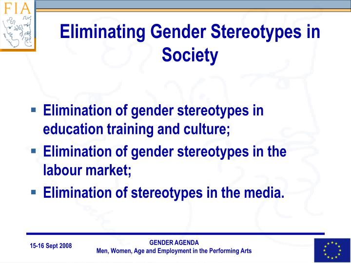 Eliminating Gender Stereotypes in Society
