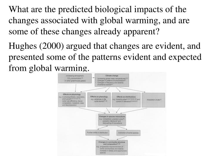 What are the predicted biological impacts of the