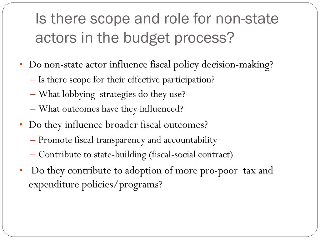 role of non state actors in governance politics essay Ment of good governance, with everyone having a role in the process of decision-making development to non-state actors' involvement politics/administration.