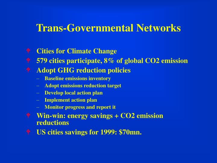 Trans-Governmental Networks