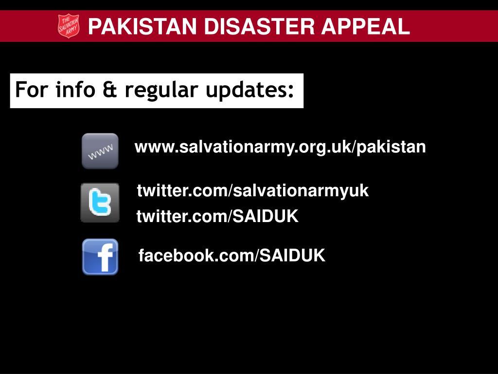 For info & regular updates:
