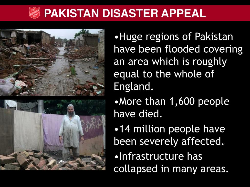 Huge regions of Pakistan have been flooded covering an area which is roughly equal to the whole of England.
