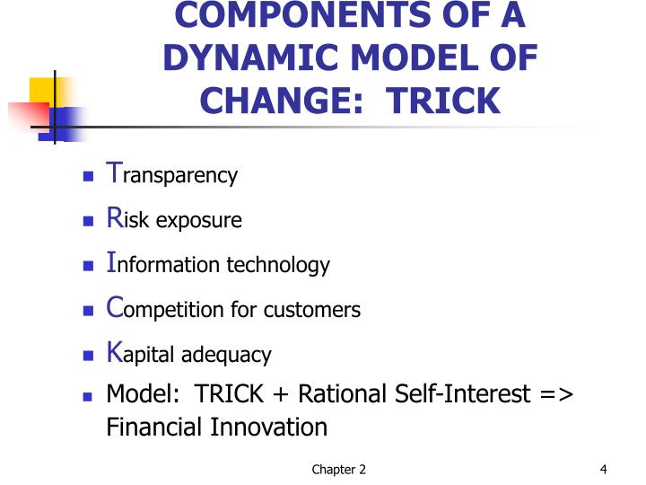 COMPONENTS OF A DYNAMIC MODEL OF CHANGE:  TRICK