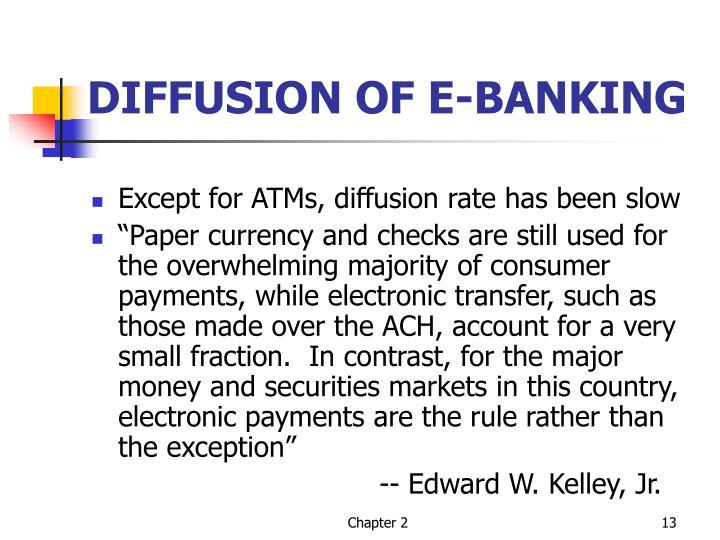 DIFFUSION OF E-BANKING