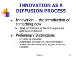 innovation as a diffusion process