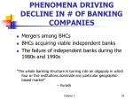 phenomena driving decline in of banking companies
