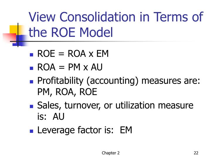 View Consolidation in Terms of the ROE Model