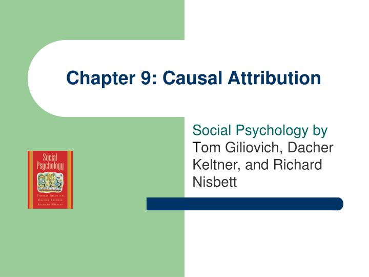 Chapter 9 causal attribution