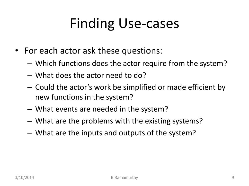 Finding Use-cases