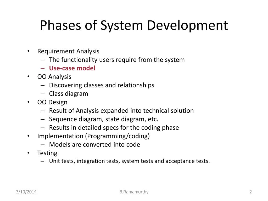 Phases of System Development