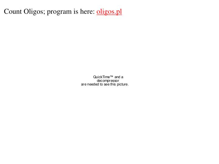 Count Oligos; program is here: