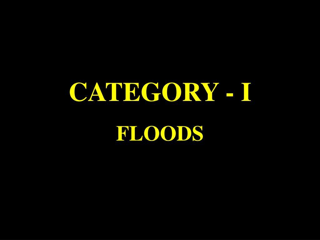 CATEGORY - I