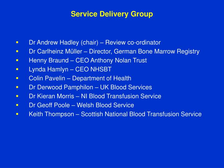 Service Delivery Group