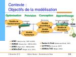 contexte objectifs de la mod lisation