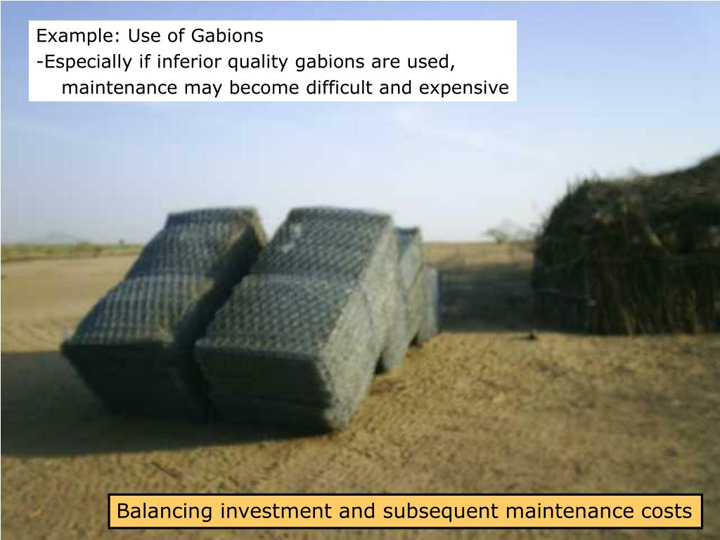 Example: Use of Gabions