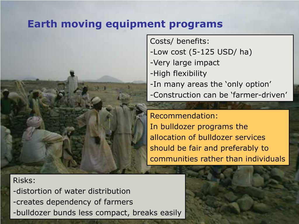 Earth moving equipment programs