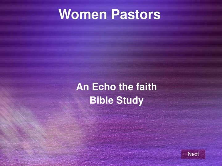 An echo the faith bible study