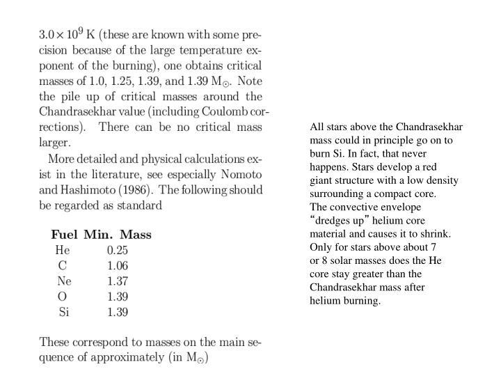 All stars above the Chandrasekhar