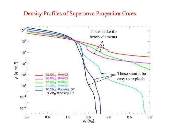 Density Profiles of Supernova Progenitor Cores