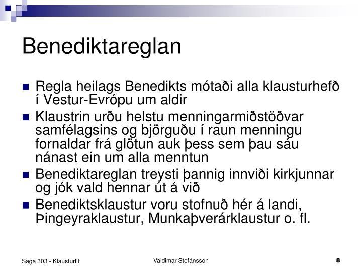 Benediktareglan