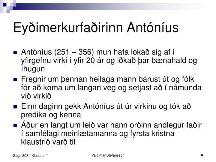 Eyðimerkurfaðirinn Antóníus