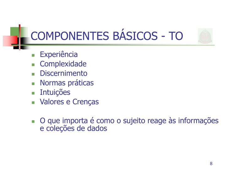 COMPONENTES BÁSICOS - TO