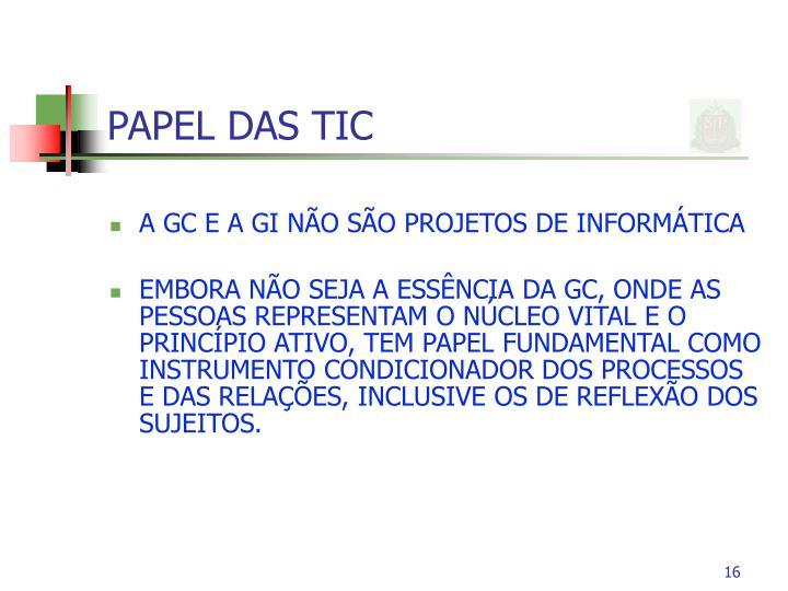 PAPEL DAS TIC