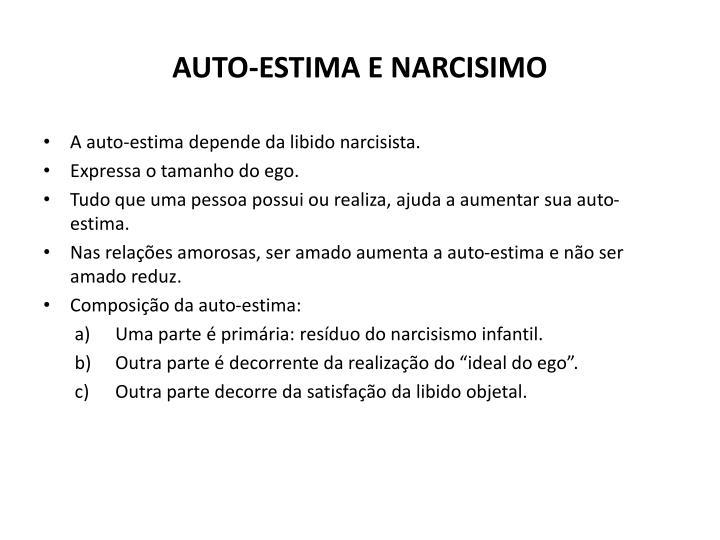 AUTO-ESTIMA E NARCISIMO