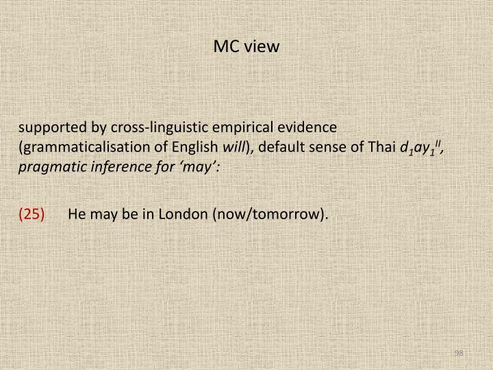 MC view