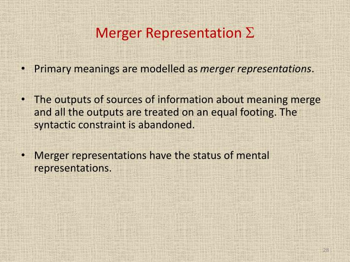 Merger Representation