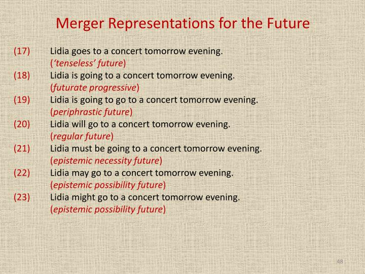 Merger Representations for the Future