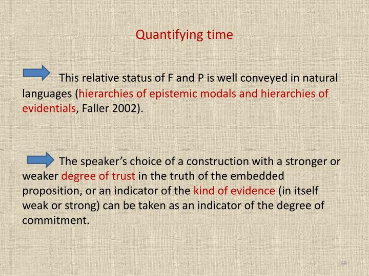 Quantifying time