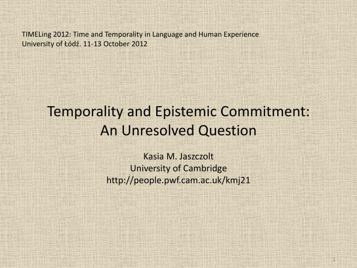 TIMELing 2012: Time and Temporality in Language and Human Experience