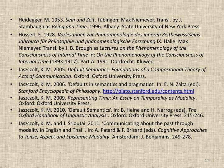Heidegger, M. 1953.