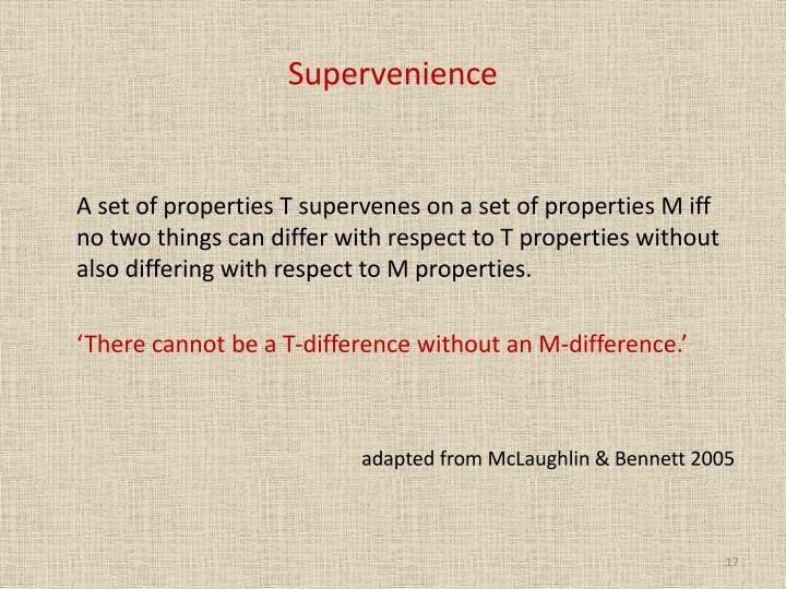 Supervenience
