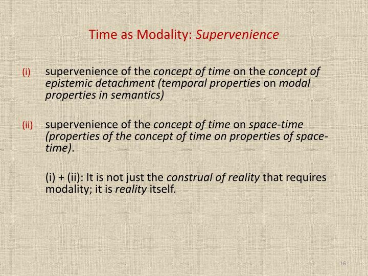 Time as Modality: