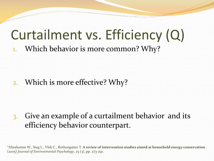 Curtailment vs. Efficiency (Q)