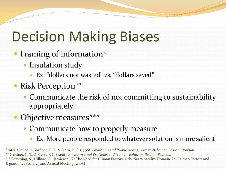 Decision Making Biases